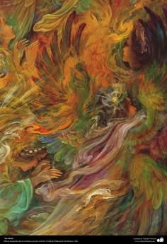 イスラム美術(マフムード・ファルシチアン画家によるミニチュア傑作 - 「説明なし」5