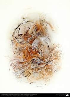 Sin título  Obras maestras de la miniatura persa; Artista Profesor Mahmud Farshchian, Irán -72