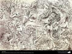 """Sin título""- Obras maestras de la miniatura persa; Artista Profesor Mahmud Farshchian, Irán"