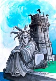 Caricatura - Liberdade, Por onde anda?