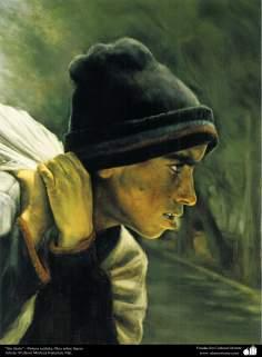 الفن الاسلامی - رسم - زیت علی لوحة - تأثير استاذ مرتضی کاتوزیان - بدون شرح