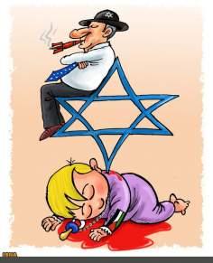 Caricatura - Sionismo e ocupação