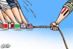 ・・・二対する抵抗しているシリア(漫画)