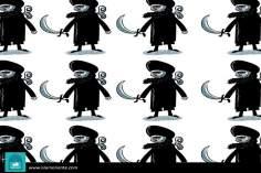 Sistemática terrorista (Caricatura)