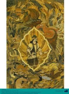 Исламское искусство - Ремесло - Моарраг Кари (маркетри) - Сухраб , герой Шахнаме Фирдоуси