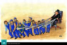 Плата рабочих и капитализм (карикатура)