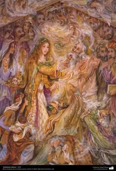 イスラム美術(マフムード・ファルシチアン画家のミニチュア傑作_「よい人たちの苦しみ」(2004年)