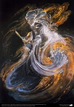 イスラム美術(マフムード・ファルシチアン画家のミニチュア傑作_「不在の秘密」(1997年)