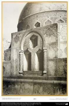 イスラム諸国での建築とアート - シェイクホセインサダケモスクのドムの窓-14世紀
