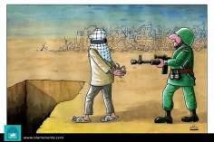 Caricatura - Terrorismo governamental de Israel