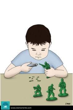 Terrorismo, Paz y niños (caricatura)