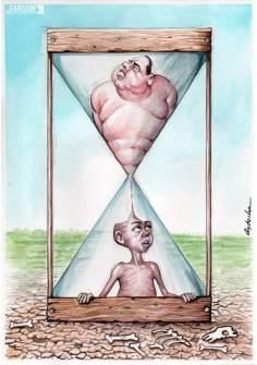 L'heure du changement  (Caricature)