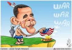 Tradición del belicismo norteamericano (caricatura)