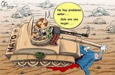 НАТО - защитник афганских женщин....(карикатура)