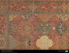 Detalhes de um tapete Persa - datado do meados do século XI