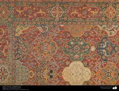 Una parte de alfombra persa - Datada en los finales del siglo XI