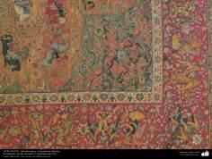 Une partie du tapis persan - Enrichi avec du fil métallique, 2e moitié du XVIe siècle