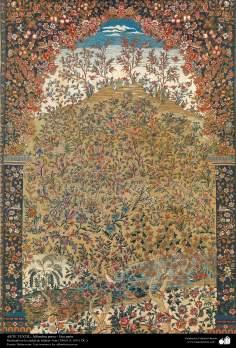 اسلامی فن - شہر اصفہان سے متعلق ہاتھ سے بنی ہوئی ایرانی قالین - سن ۱۹۱۱ء - ۱۰۲
