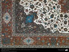 اسلامی فن - شہر اصفہان سے متعلق ہاتھ سے بنی ہوئی ایرانی قالین - سن ۱۹۵۱ء - ۹۱