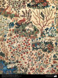 Parte de una alfombra persa realizada en la ciudad de Isfahan – Irán en 1911
