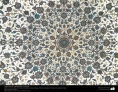 Art islamique - artisanat - art du tissage de tapis  - tapis persan- Isfahan -Iran en en 1951