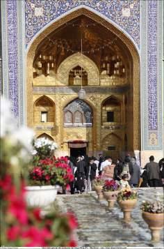 المعمارية الإسلامية - منظر من طريق المعمارية الإسلامية في صحن الذهب لضریح الإمام رضا (ع) في مدينة مشهد - إيران - 107