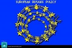 Европейский союз и беженцы (карикатура)