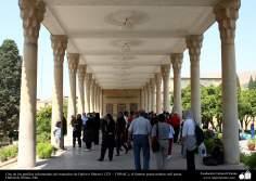 آرامگاه حافظ شیرازی  شاعر معروف عرفان، صوفی فارسی - حافظیه - شیراز 1325 و 1389