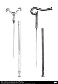 Les anciens instruments décoratifs de la guerre -Poignard et la lance décoratifs - Inde - la seconde moitié du XVIIIe et XIXe siècle