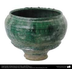イスラム美術 - イスラム陶器やセラミックス - 非対称ラインで装飾された花瓶 - イランの東- 13世紀後半 - 37