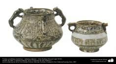 Vasijas con dibujos simétricos – cerámica islámica –  Irán, Kashan, fines del siglo XII dC. (9)