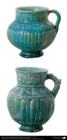 イスラム美術 -イスラム陶器やセラミックス - 陶器壷 - ネイシャーブール若しくはバーミヤン - 12世紀後半 - 30