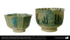 Vasijas con relieves vegetales y geométricos; cerámica islámica, Bamian o Nishabur –  finales del siglo XII dC. (23)