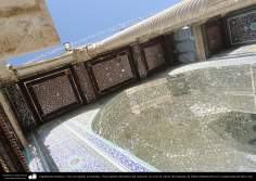 Islamic architecture - Arts encrusted mirrors, Top view of the porch of the sanctuary - the eivan Aineh - the shrine of Fatima Masuma (P) in the holy city of Qom (4)