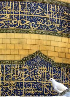 Vista externa parcial de la cúpula de la tumba del Imam Rida (P) - 23