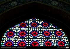 A stained glass window of Jamkaran mosque, Qom (12)