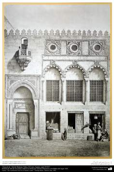 Art & Islamic Architecture in painting - Saieh countries' Abd al-Rahman Yahya, Cairo, Egypt, XVIII century