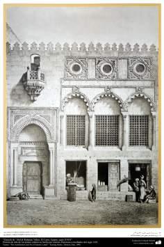 Pintura de arte de los países islámicos- Zauyeh de 'Abd al-Rahman Yahia, El Cairo, Egipto, siglo XVIII