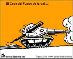 ¡ El Cese del Fuego de Israel ...!