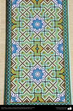 Arte islámico – Azulejos y mosaicos islámicos (Kashi Kari) realizados en paredes, techos y cúpulas del Instituto Académico Cultural Dar-alHadith, Qom, Irán - 85