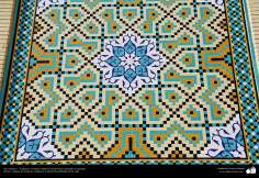 Arte islámico – Azulejos y mosaicos islámicos (Kashi Kari) realizados en paredes, techos y cúpulas del Instituto Académico Cultural Dar-alHadith, Qom, Irán - 88