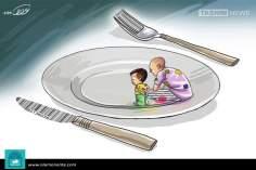 Gli alimentari (Caricatura)