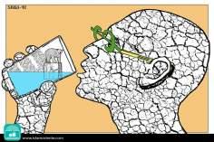 Il Capitalismo assetato (Caricatura)