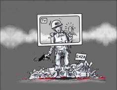 caricaturas gaza