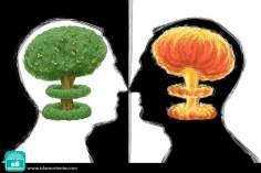 Cerebros atómicos (Caricatura)