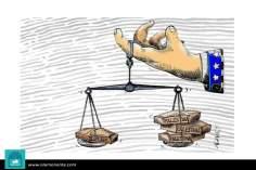 Le spese e  la bilancia (Caricatura)