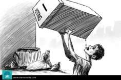 Assetato per democrazia (Caricatura)