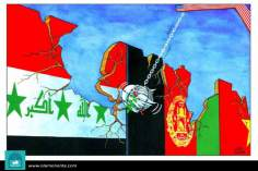 The destruction of peace (Caricature)