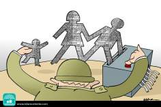 La destruction de la source (Caricature)