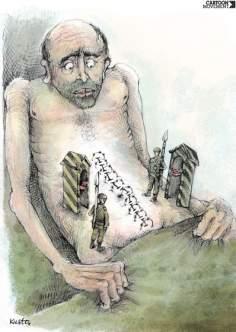 Frontière de la douleur  - Ukraine (Caricature)
